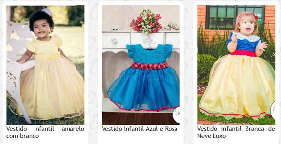 Loja de vestidos de festa infantil