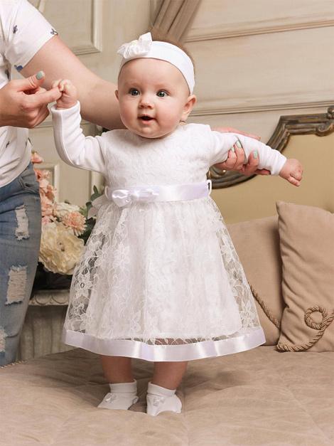 Vestido branco infantil