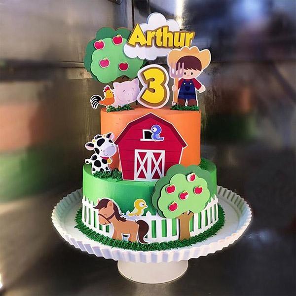ideia para bolo festa fazendinha