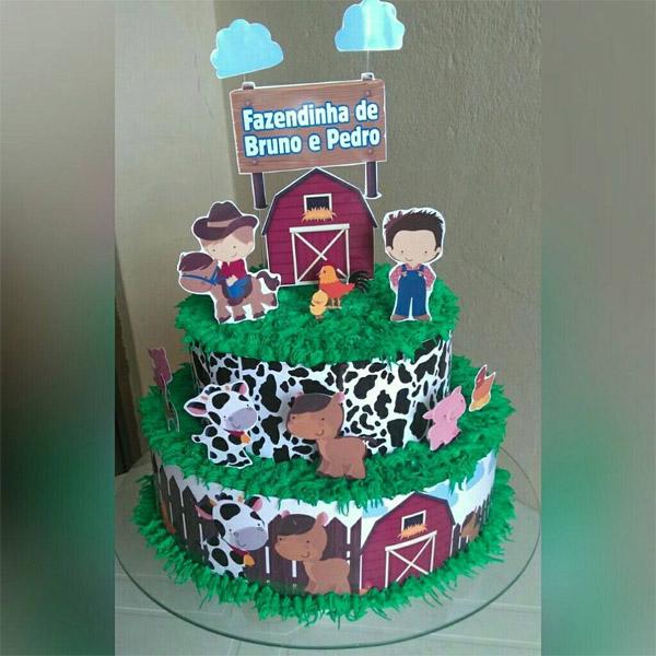 ideia de bolo fazendinha