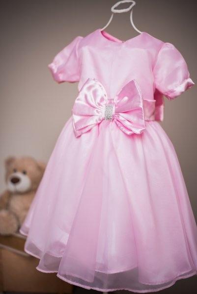 Vestido infantil com formato godê