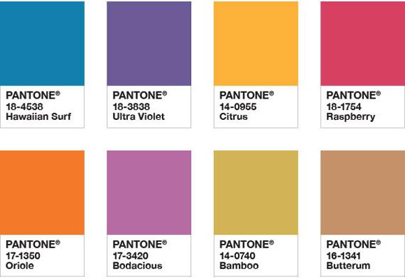 Sugestão de combinação de Ultra Violet com cores alegres