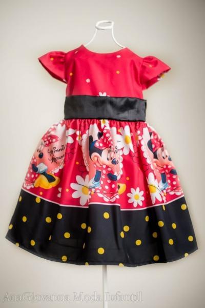 Vestido de festa da Minnie infantil