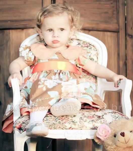 Vestidos infantil de tricoline