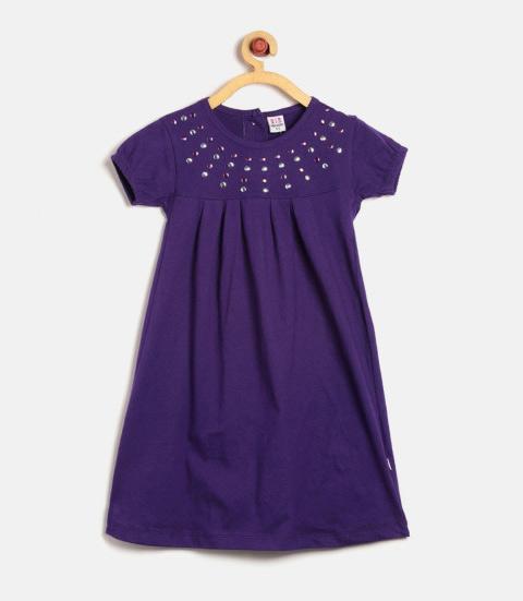 Vestido infantil ultra violet - cor do ano 2018 Pantone