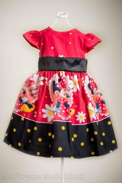 Vestido Minnie - Vestidos Infantis