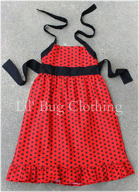 Vestidos infantis de personagens - Lady Bug