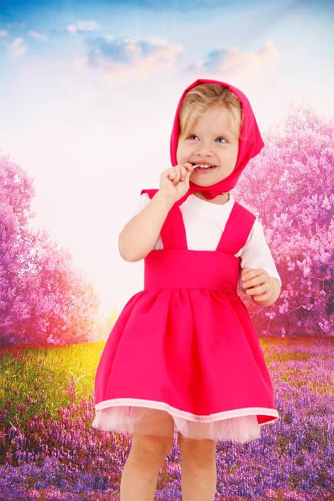 Vestidos infantis de personagens - Masha e o Urso