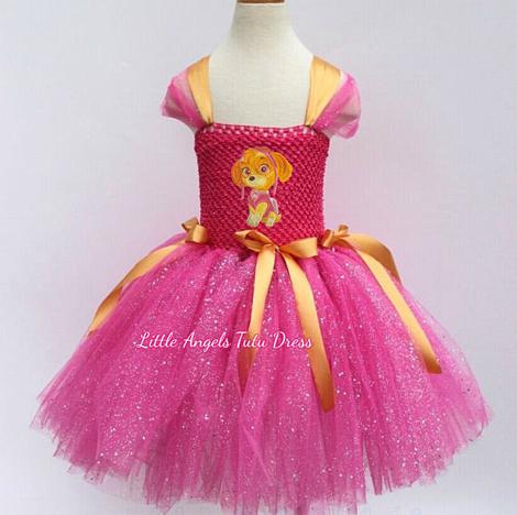 Vestidos infantis de personagens - Patrulha Canina