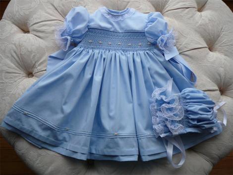 Vestido infantil azul